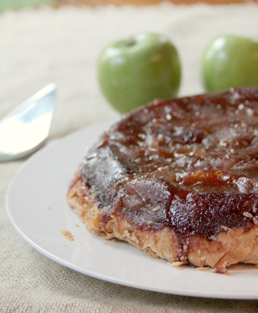 Apple Tarte Tatin with Pears--easy, slow cooked, caramelly, and delicious!