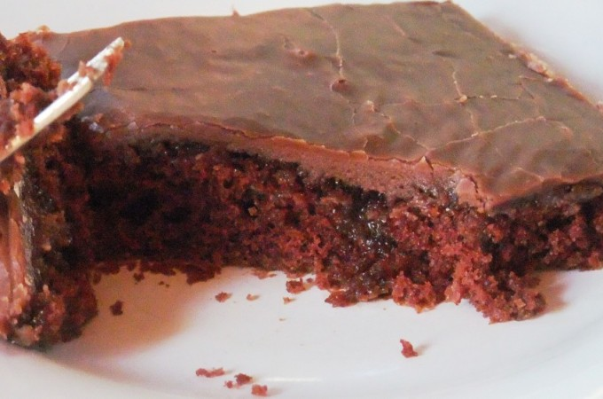 piece of fabulous chocolate cake