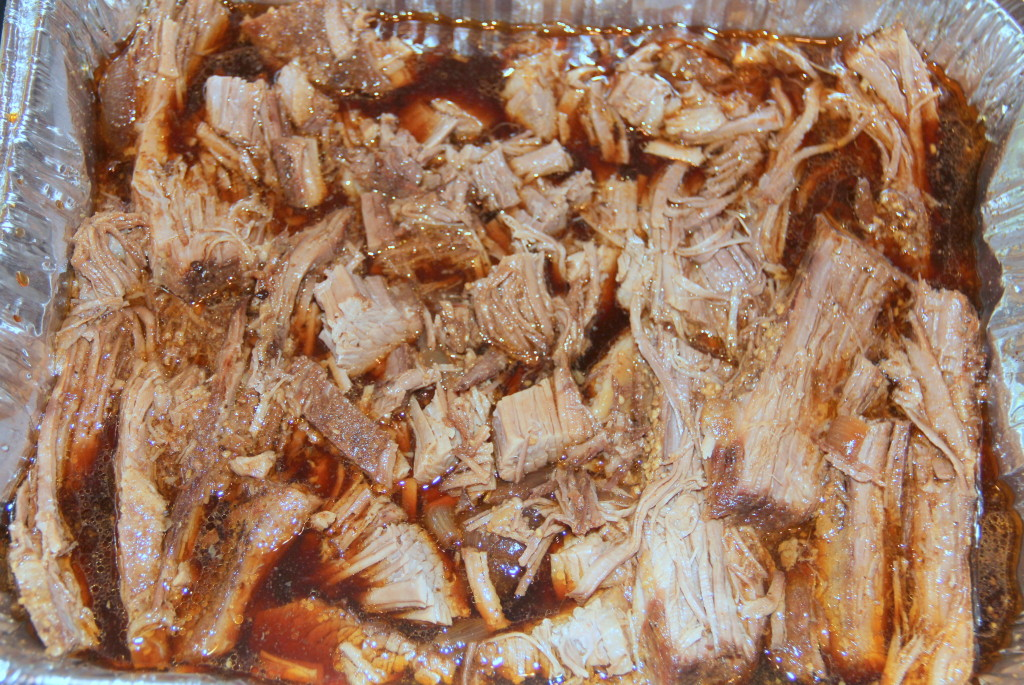 Oven-Roasted Brisket is braised in the oven, low and slow, with onions, garlic, and beef broth. It's tender and full of flavor!