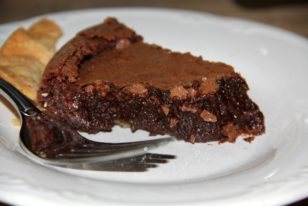 Fudge Pie — chocolatey and gooey plus quick and easy makes the best fudge pie! | inasouthernkitchen.com