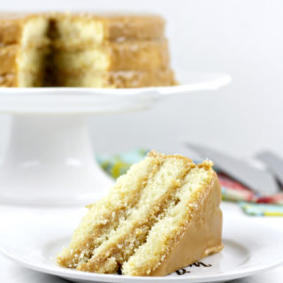Southern Caramel Cake with real caramel frosting like Grandma used to make!
