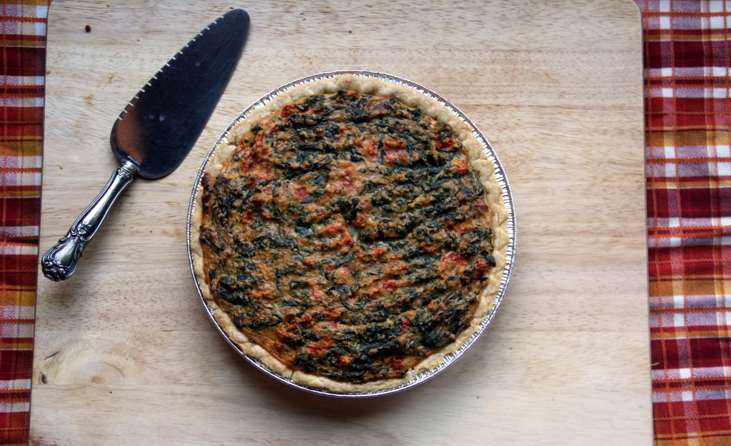 Tomato, Spinach and Cheese Quiche--an Italian herb flavored quiche!