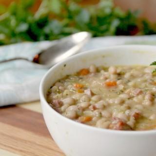 bowl of navy bean soup