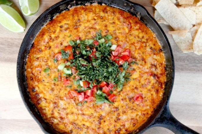pimento cheese queso fundido chorizo