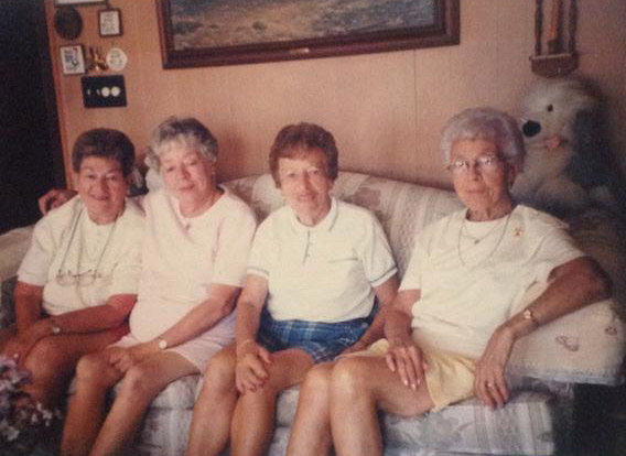 The DeLaura Sisters L to R: Irene, Lucille, Marie, Santina.