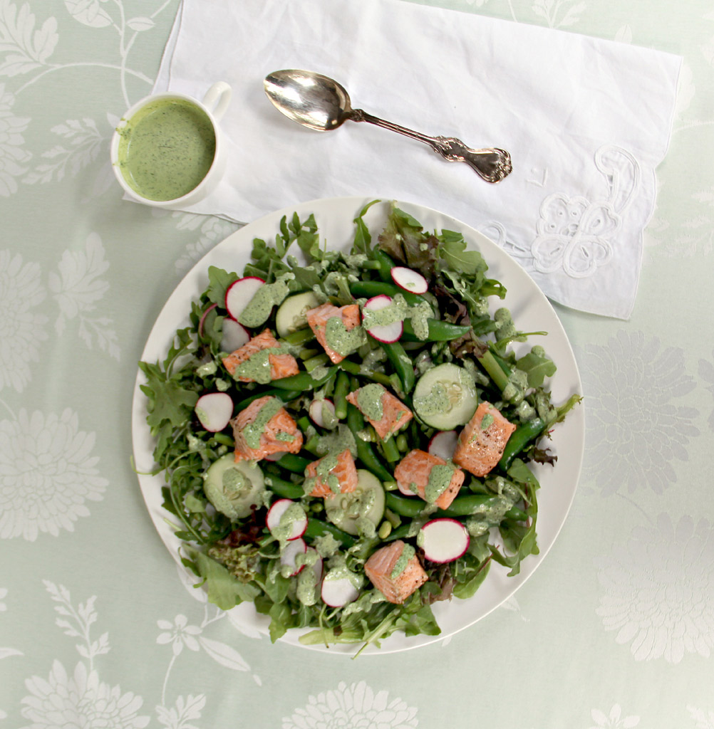 Salmon and Spring Vegetable Salad