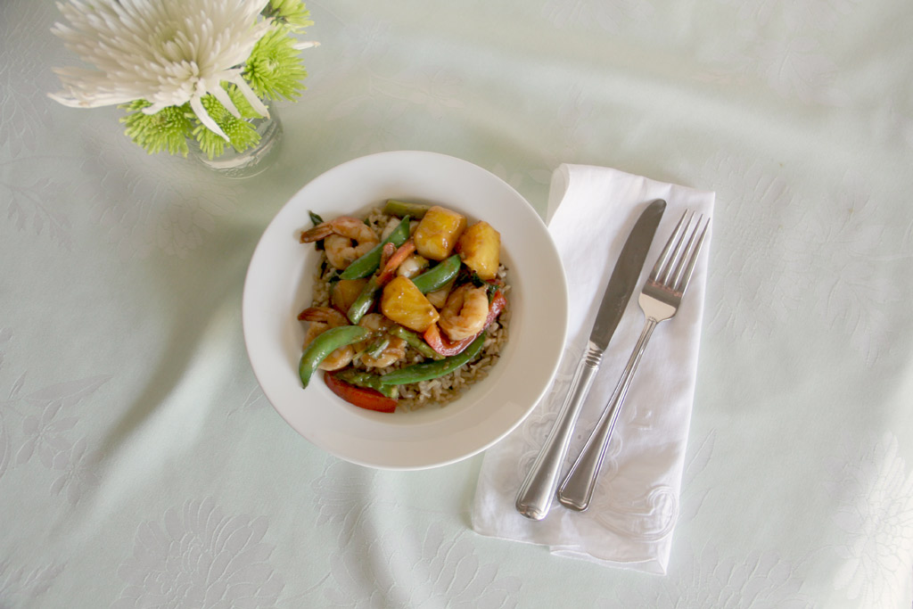 Shrimp and Pineapple Stir-fry