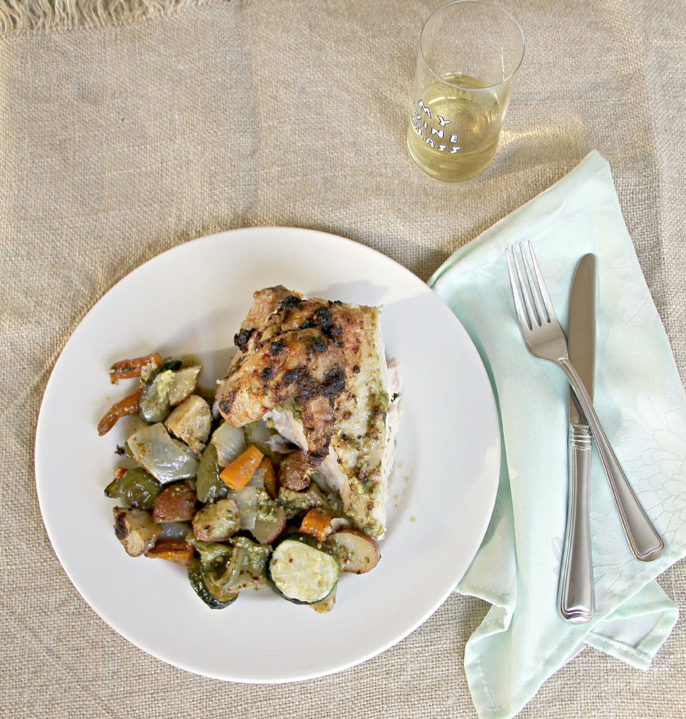 Basil Pesto Roasted Chicken