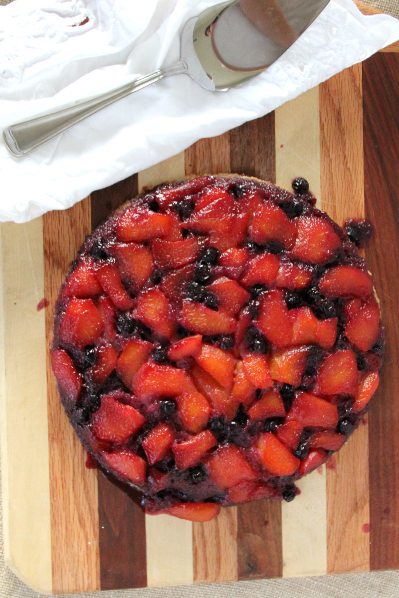 Blueberry-Upside-Down-Cake