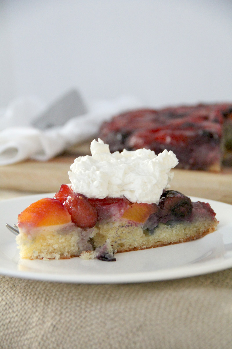 Peach-and-Blueberry-Upside-Down-Cake