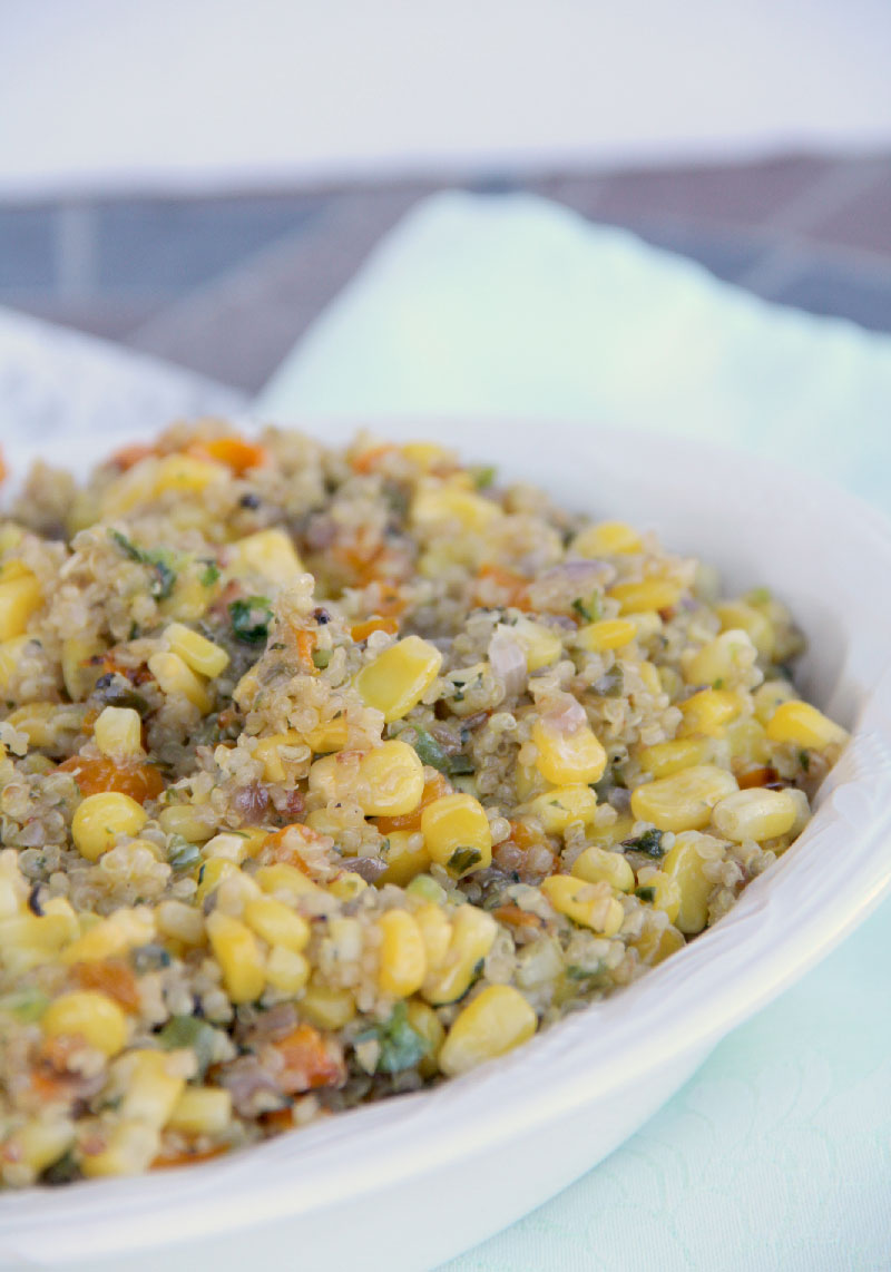 Quinoa Salad and Corn