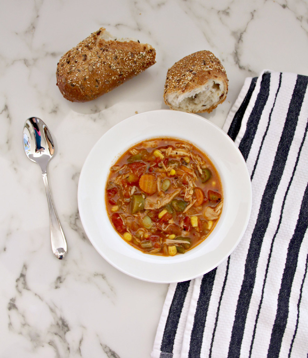 Homemade Chicken Vegetable Soup is filled with healthy, hearty vegetables!