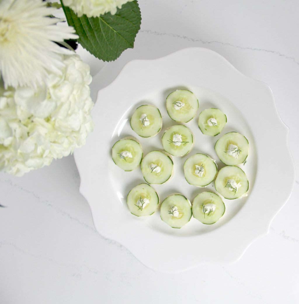 Easy cucumber tea sandwiches are a classic appetizer!