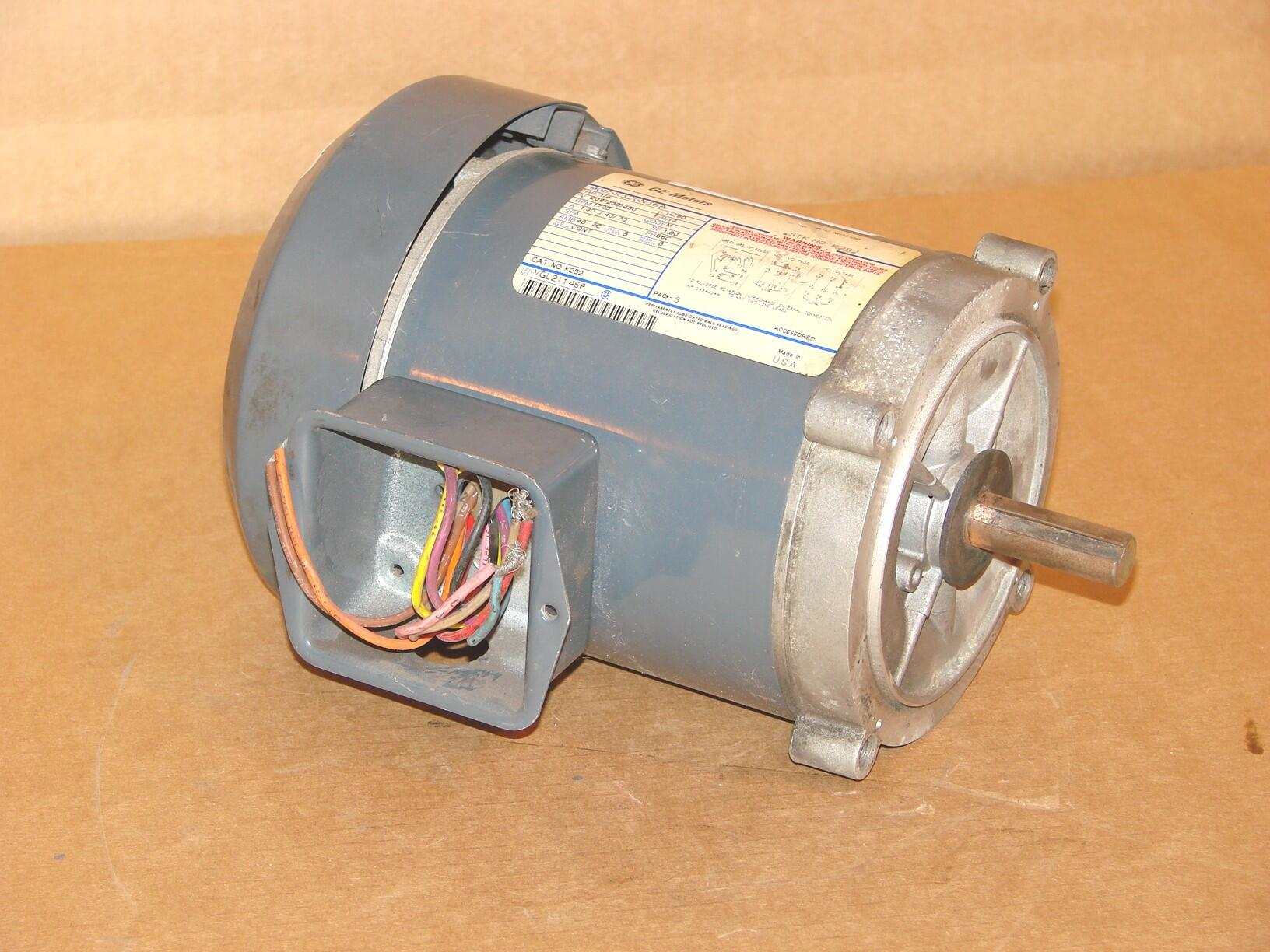 General electric ge 1 4 hp ac motor 5k32gn36a used for 56c frame motor adapter