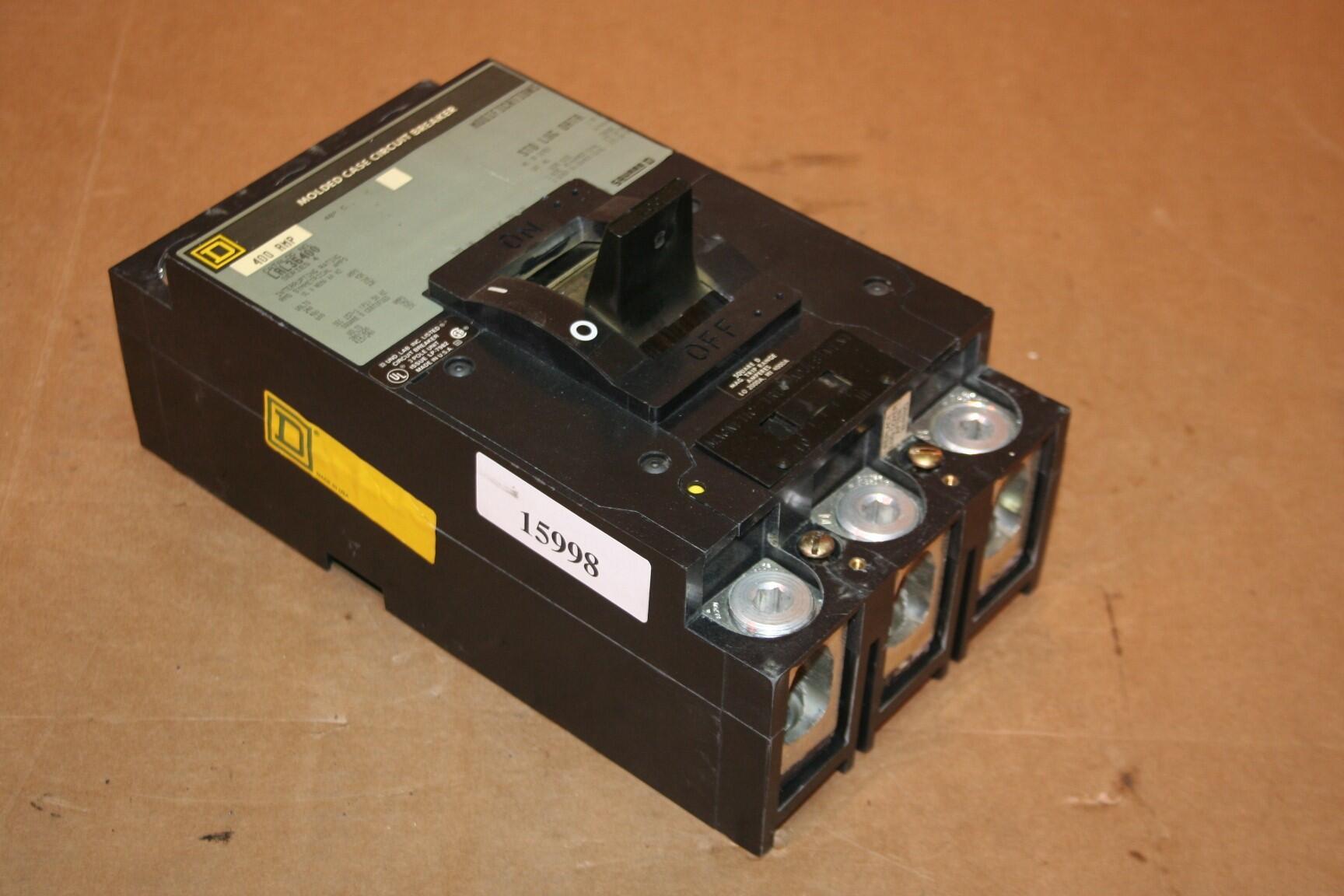 Square D 400 Amp Circuit Breaker LAL36400 Used #15998 eBay #BA9011