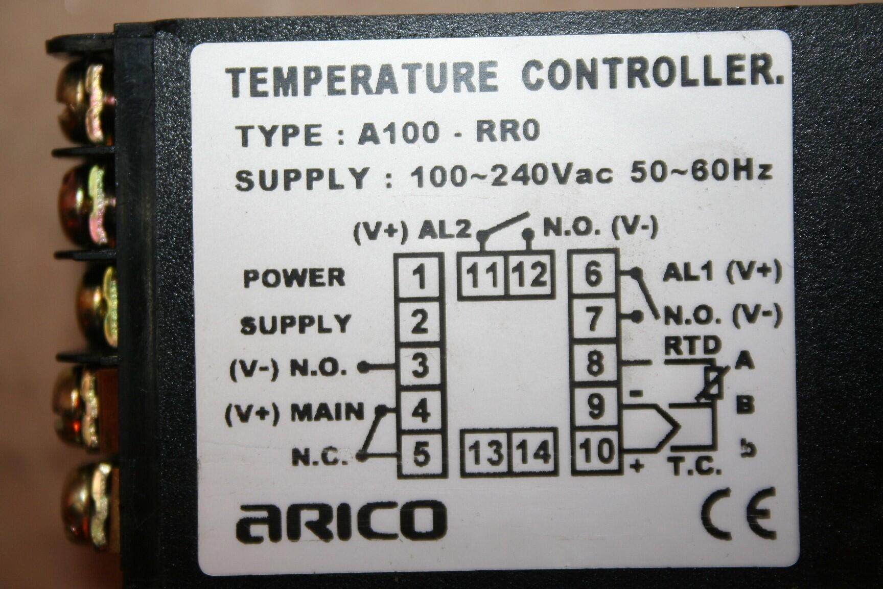 Arico Temperature Controller Type A100 RPO Used #18244 eBay #63432D