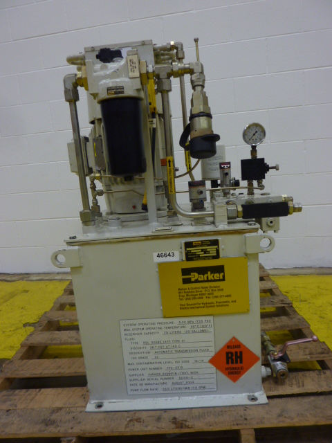 Parker Hydraulic Power Pack Fps 2513 Used 46643 Ebay