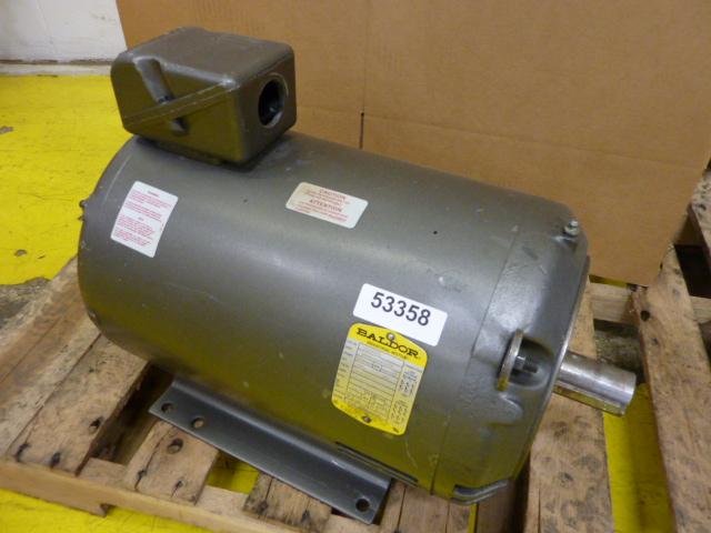 Baldor 15 hp motor 322463 used 53358 ebay for Baldor 15 hp motor