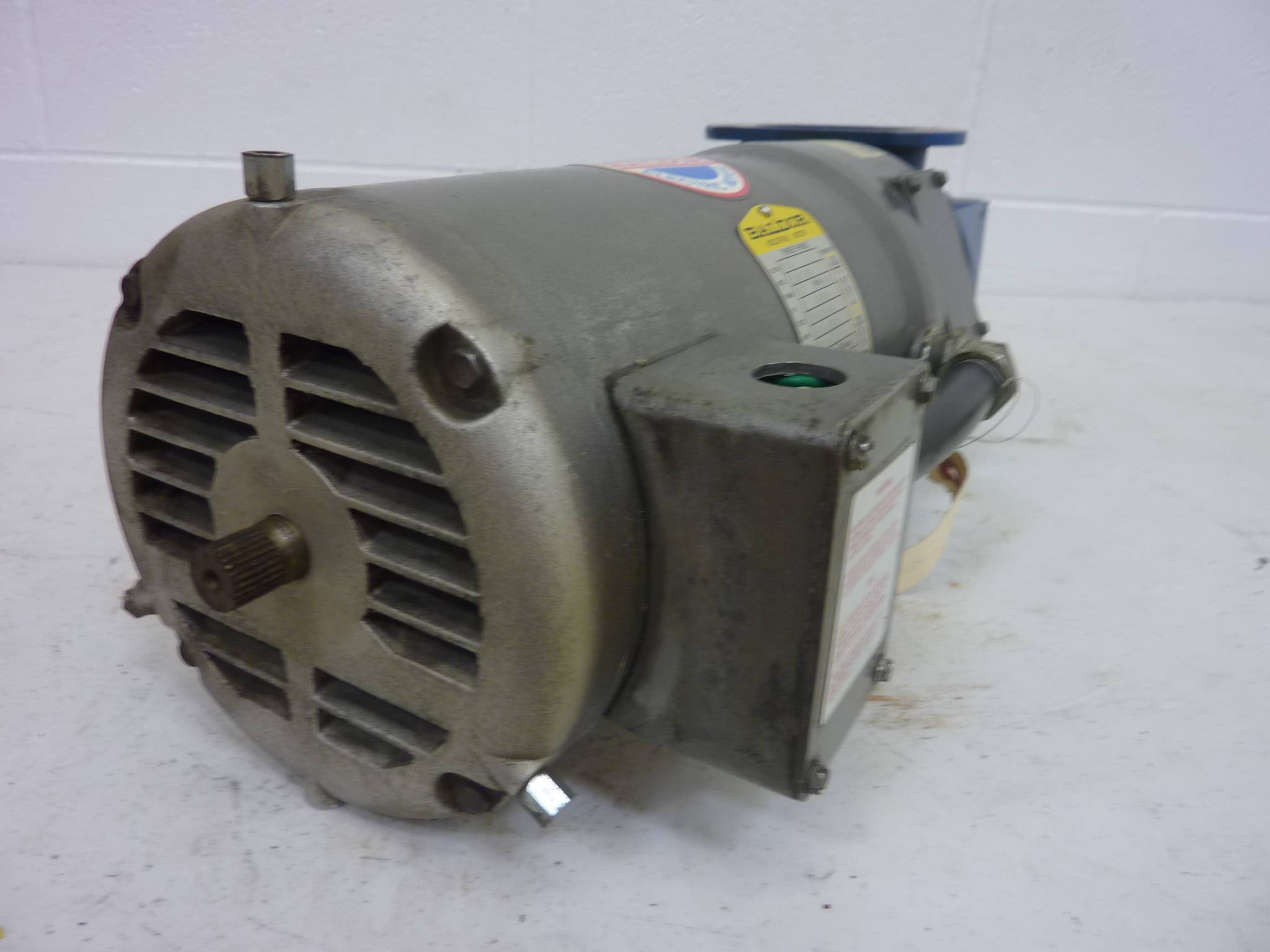 Baldor 2 hp motor w gearbox m00 used 57678 ebay for 56c frame motor adapter