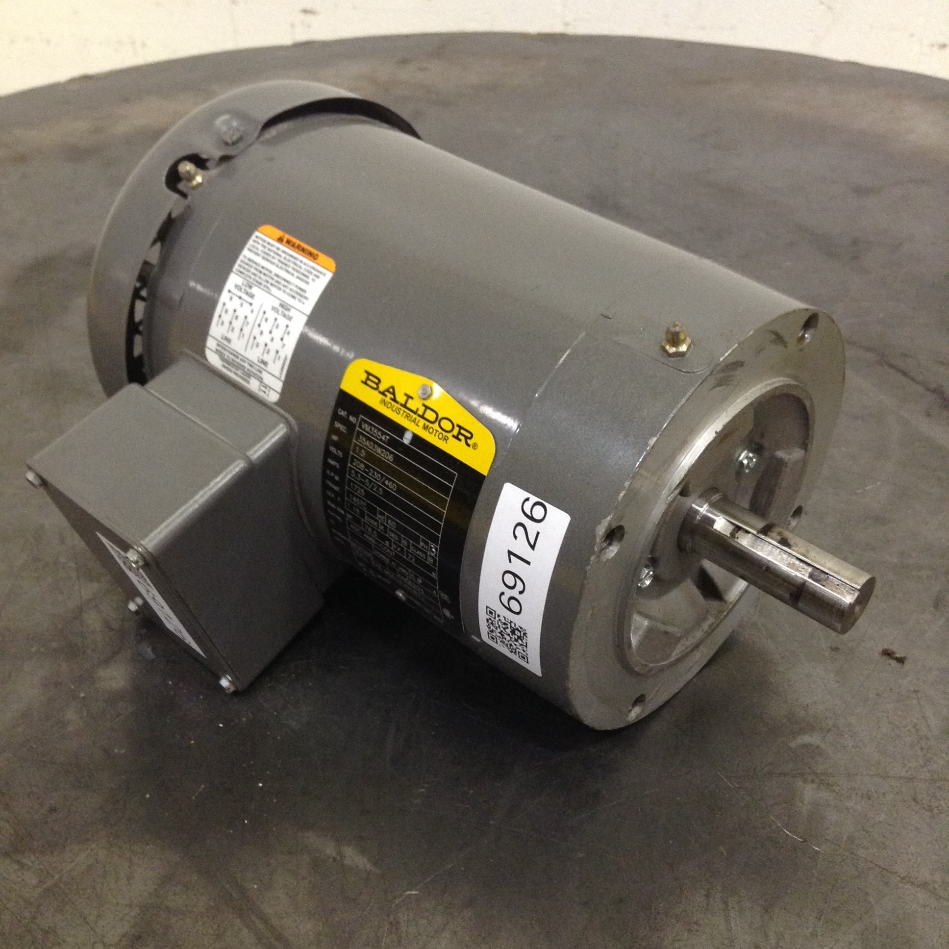 Baldor 1 5 hp electric motor vm3554t used 69126 ebay for 1 5 hp electric motor