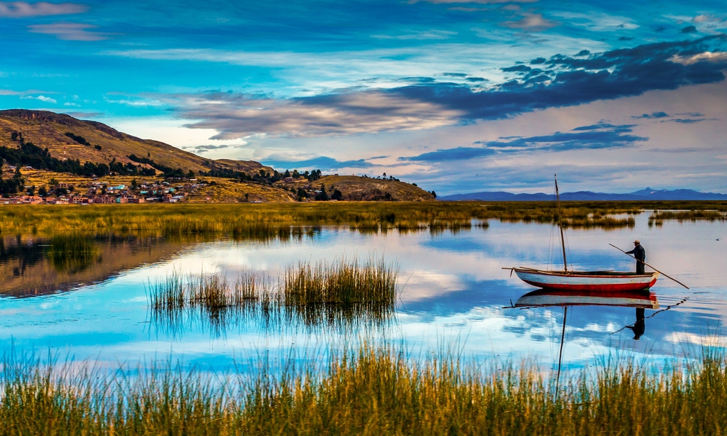 """""""Lonely Boat Lake Titicaca, Peru"""" by Boris G via Flickr Creative Commons"""