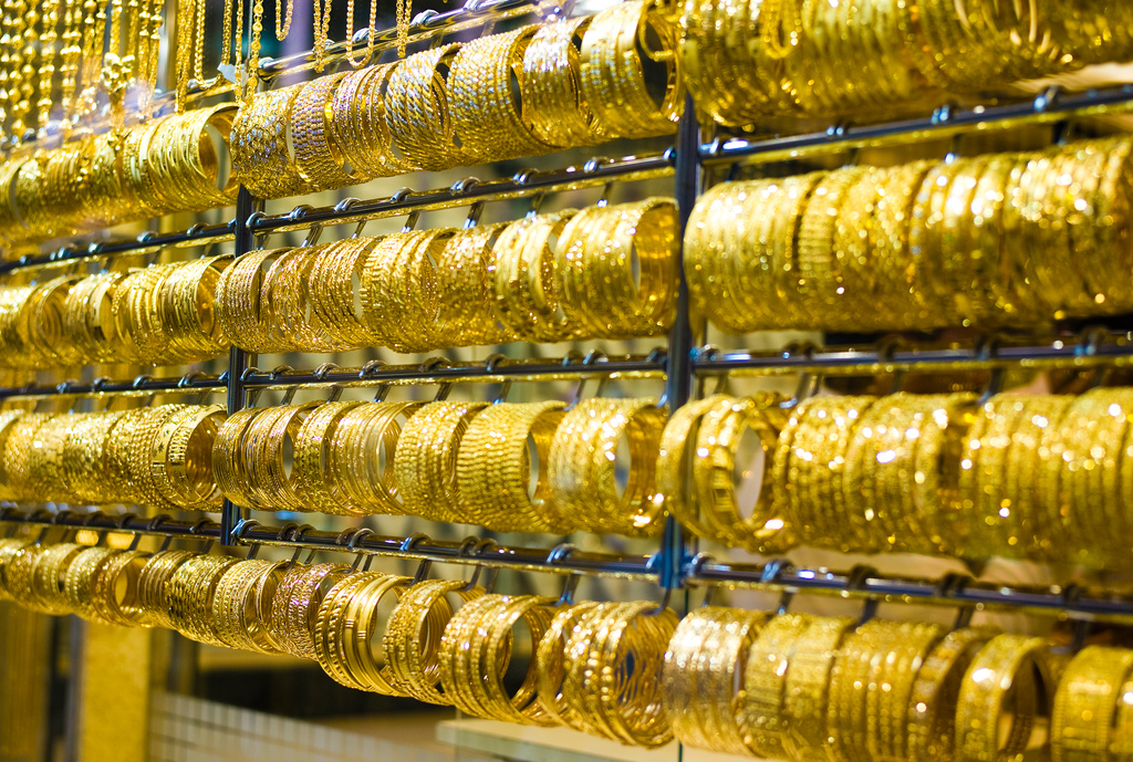 """Bracelets at the Dubai Gold Market"" by Joi Ito via Flickr Creative Commons"
