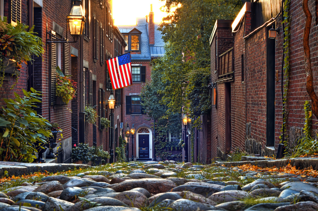 """Acorn Street October"" by Justin Mier via Flickr Creative Commons"