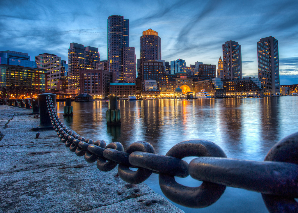 """Downtown Boston from Fan Pier"" by Robbie Shade via Flickr Creative Commons"