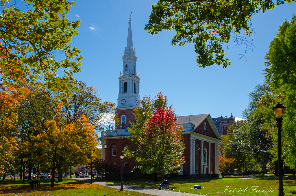 """Church on New Haven Green"" by Patrick Franzis via Flickr Creative Commons"