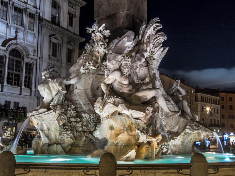 Fountain of four rivers   luftphilia
