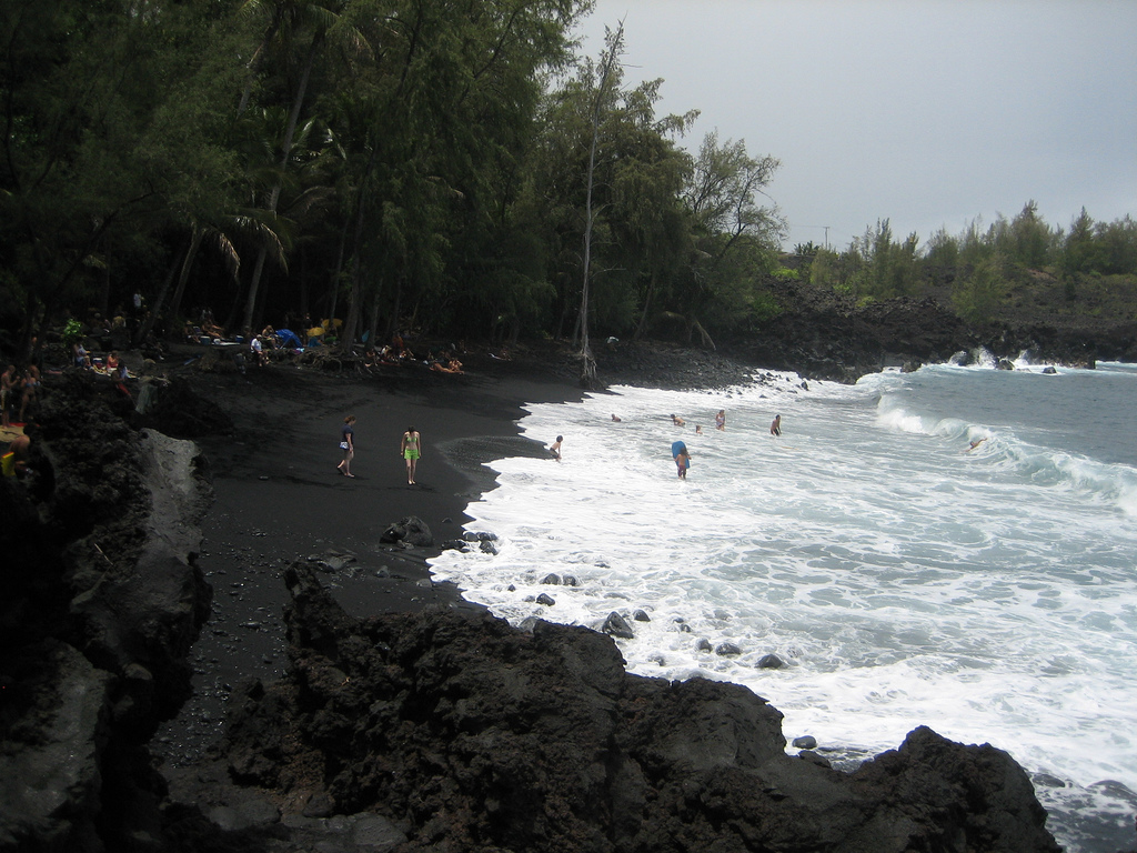 The black sand beaches of hawaii Black sand beach hawaii