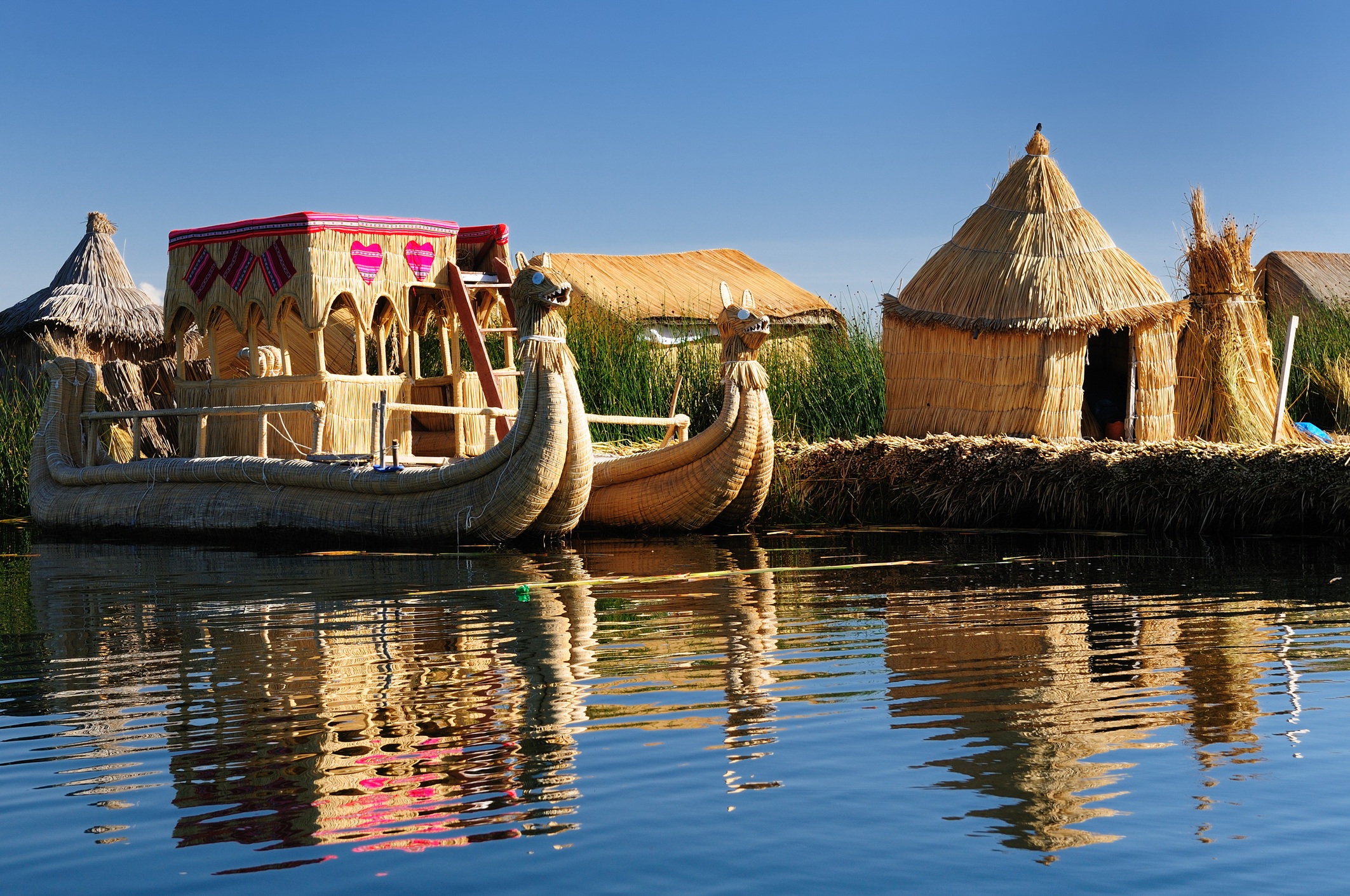 The floating islands of Lake Titicaca