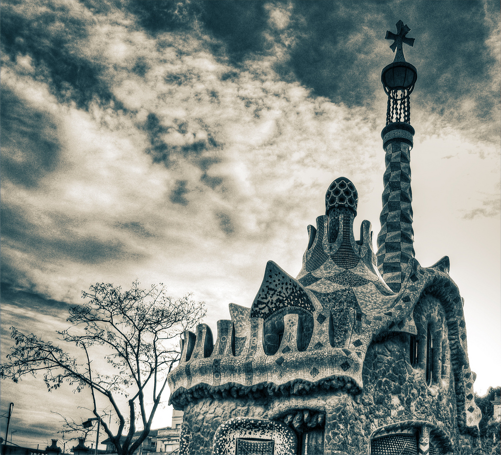 """Guell Park Gatehouse 2"" by John.Purvis via Flickr Creative Commons"