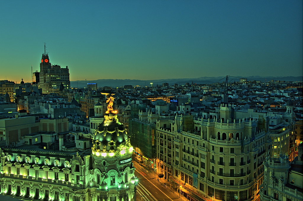 """Gran Vía (Madrid)"" by Felipe Gabaldón via Flickr Creative Commons"