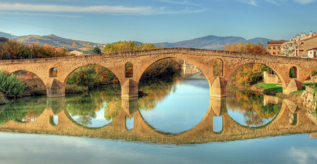 """Puente la Reina. Camino de Santiago"" by Aherrero via Flickr Creative Commons"