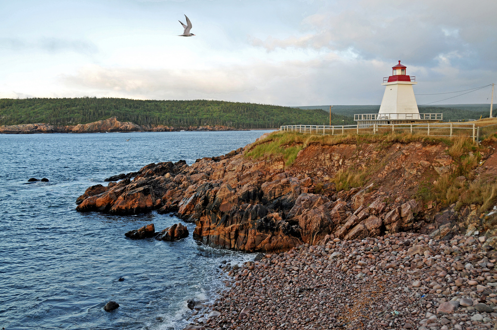 """""""Neil's Harbour Lighthouse"""" by Dennis Jarvis via Flickr Creative Commons"""