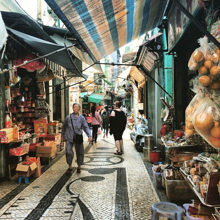 Macau streetscape by Megan Hill