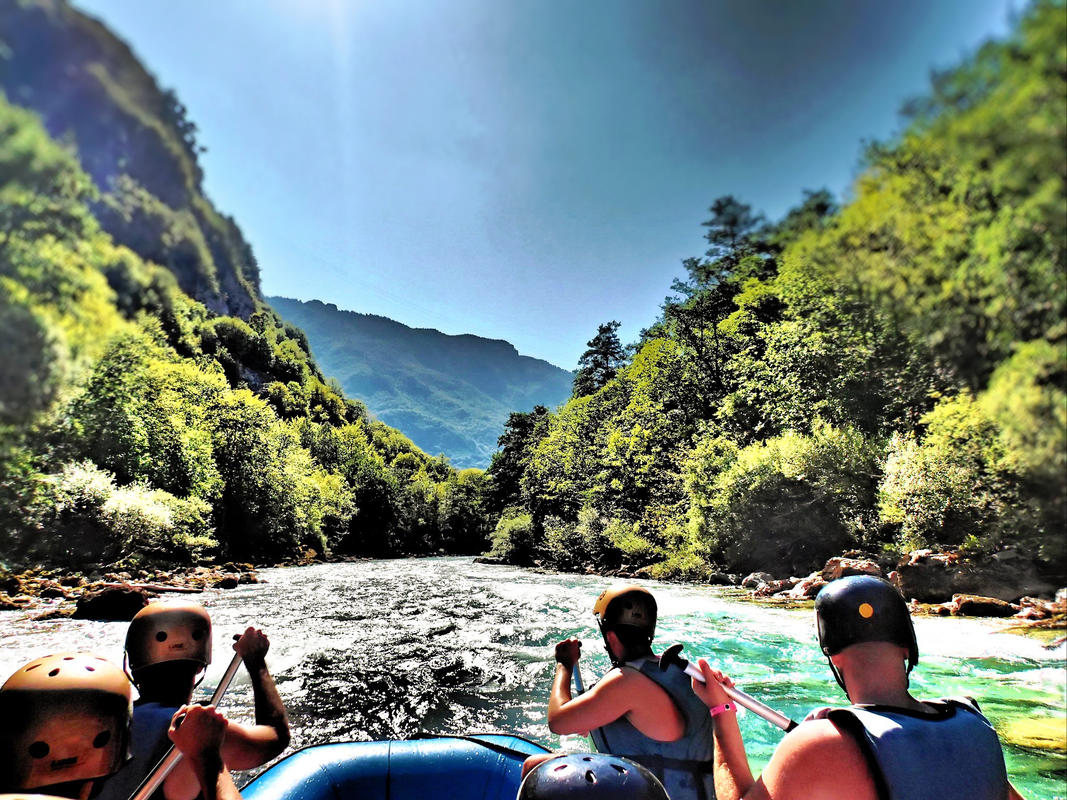 """Whitewater Rafting on Tara River Canyon, Bosnia-Montenegro border"" by SarahTz via Flickr Creative Commons"