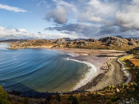 Gruinard bay panorama