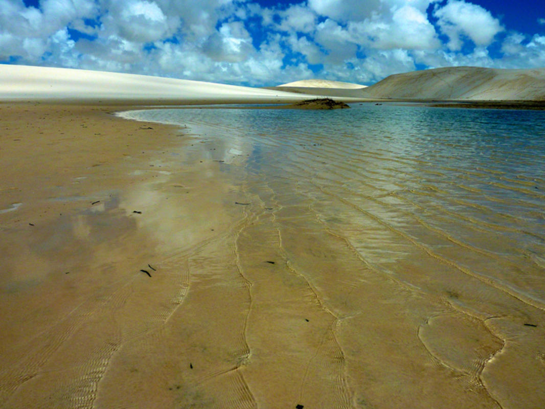 The rainy seasons fills this desert-like environment in Brazil with crystal clear lagoons. Photo: Ricardo Cabral