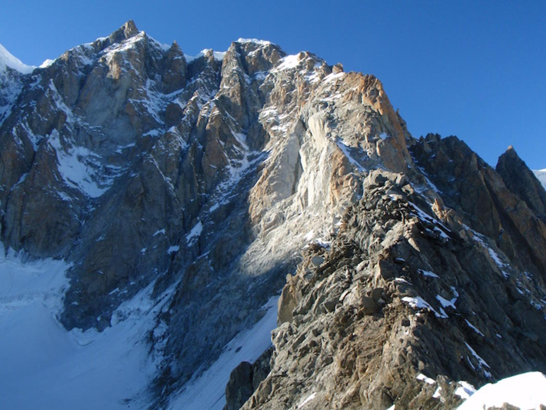 """Arête Küffner Viewed from Bivourc de la Fourche"" by Masa Sakano via Flickr Creative Commons"