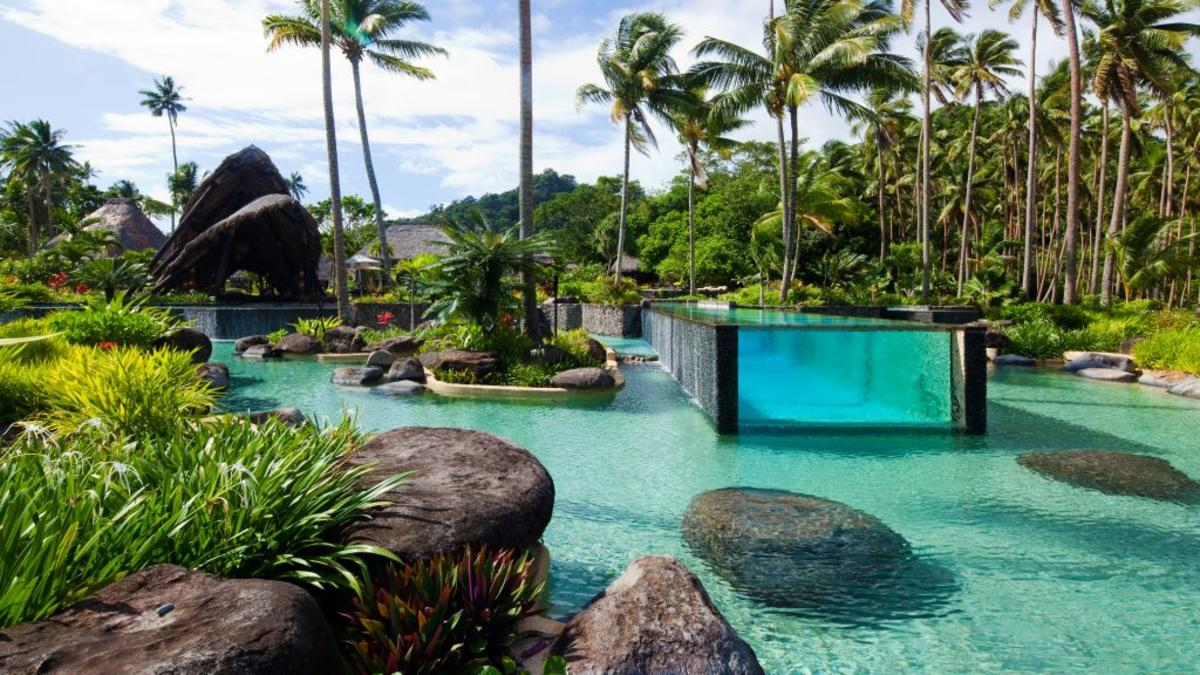The big pool at Laucala Resort