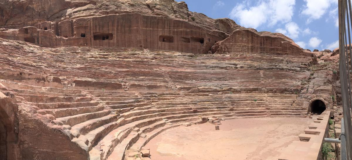 Tombs were dug up to expand the Theater at Petra as the city grew. (Photo Credit: © Joni Sweet)