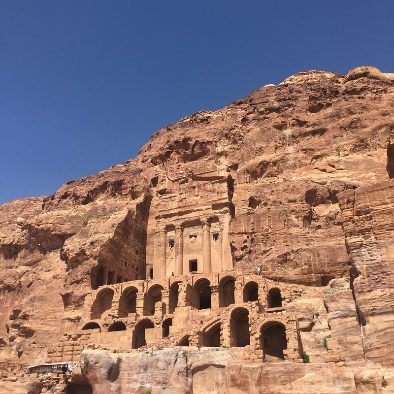 Climb to the top of the Royal Tombs for the best view of Petra. (Photo Credit: © Joni Sweet)