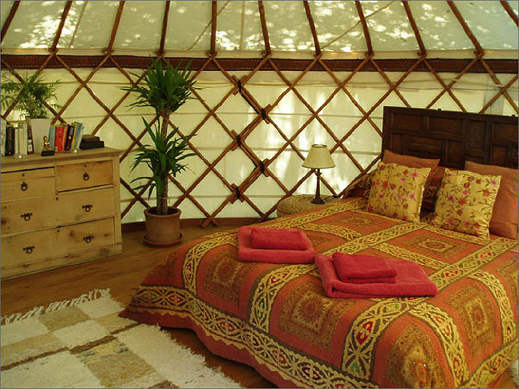 Inside the Yurt Hotel // Photo Credit: Lea Ann Belter