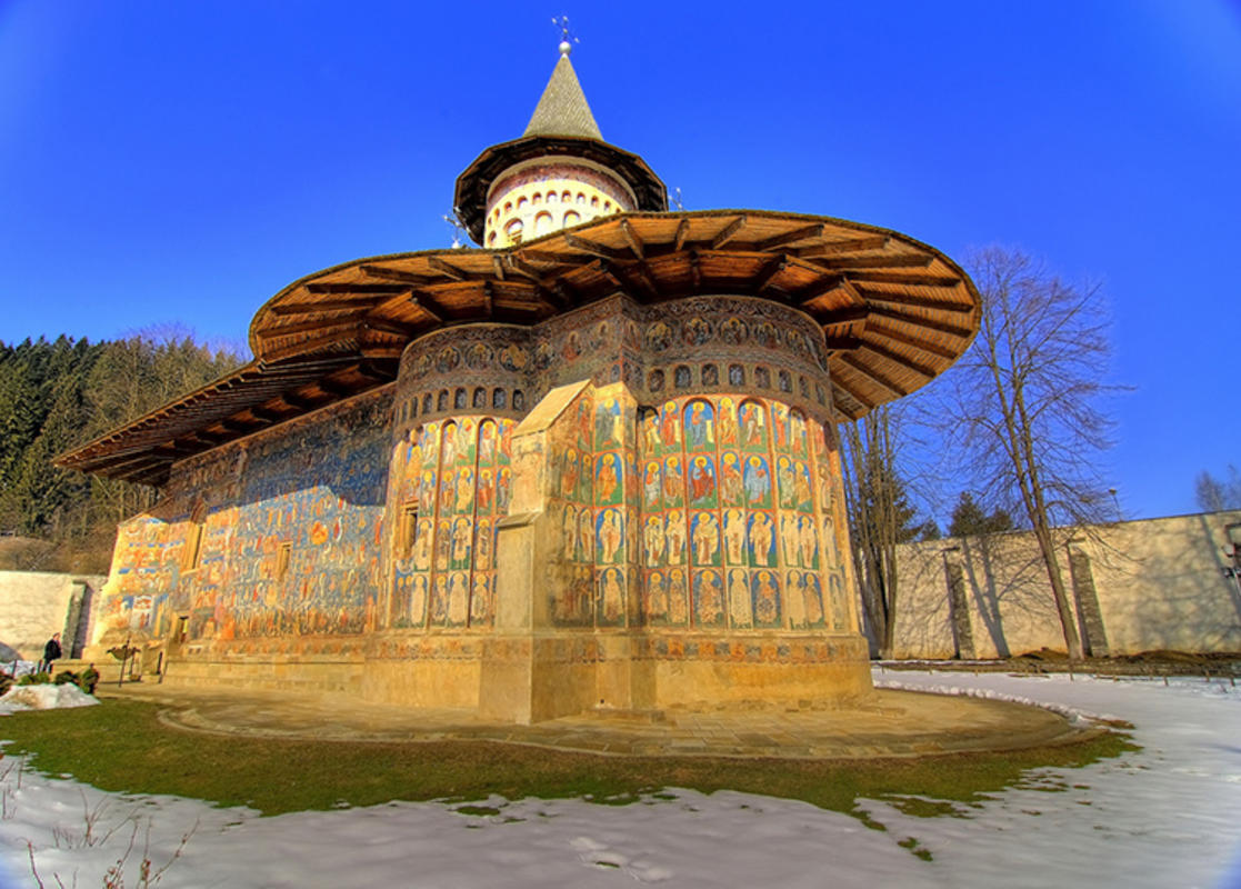 """ Mănăstirea Voroneţ, Suceava, România"" by Gaspar Serrano via Flickr Creative Commons"