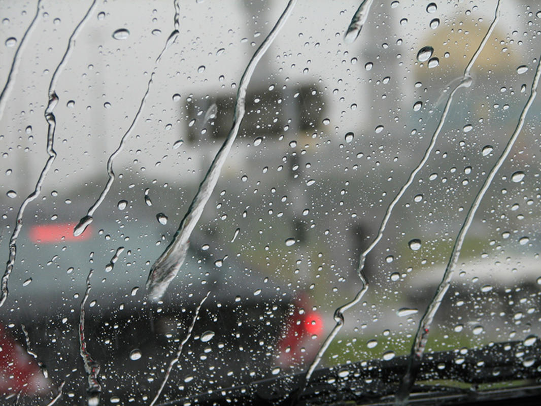 """Rain Droplets on Windshield"" by Labut via Flickr Creative Commons"