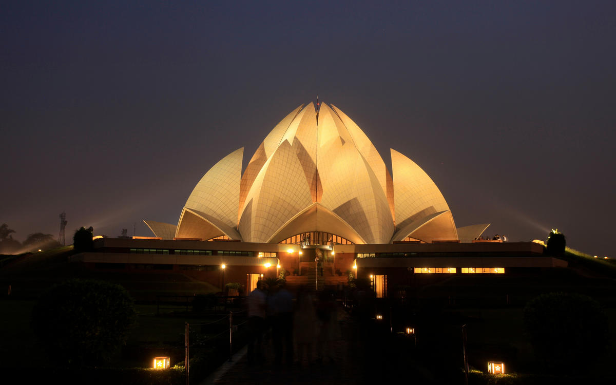 Lotus Temple by Partha Chowdhury via Flickr Creative Commons