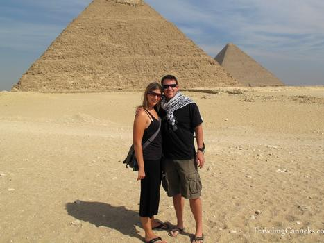 Wears pyramids of giza egypt 13