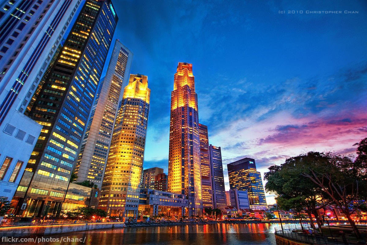 Raffles Place, Singapore by Christopher Chan via Flickr Creative Commons